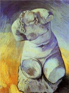 Plaster Statuette of a Female Torso - Vincent van Gogh - 1887 - oil