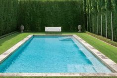 Formal pool from Milieu Magazine via www.linenandlavender.net.