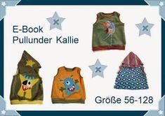 Freebook Pullunder Kallie fü Kinder 56 - 128 mit und ohne Kapuze nähen (kostenloses Schnittmuster)