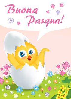"""Poesia+""""E'+Pasqua!"""" Happy Easter, Tweety, Pikachu, Greeting Cards, Holiday, Fictional Characters, Yves Rocher, Life, Instagram"""