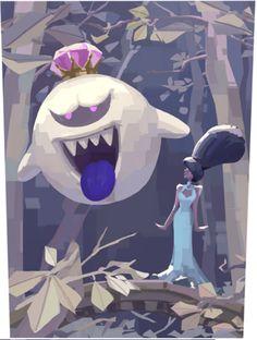 The all powerful King of Boos. and Hellen by King-of-the-Boos on DeviantArt Mario Y Luigi, Super Mario And Luigi, Super Mario Smash, Luigi And Daisy, Ninga Turtles, Mario Fan Art, Super Smash Bros Memes, King Boo, Nintendo World