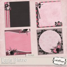 """Digital Scrapbooking with NutHouse-Scraps.com Paris Bistro - Stacked Papers [AADesigns-098] - A beautiful pack of 4 stacked papers! Created to coordinate with the """"Paris Bistro"""" by AADesigns.Created and saved at 300 dpi12x12 inch pages in JPEGLicense Includes: Personal Use, Scrap for Hire, Scrap for Others friendly.PU S4H S4O"""