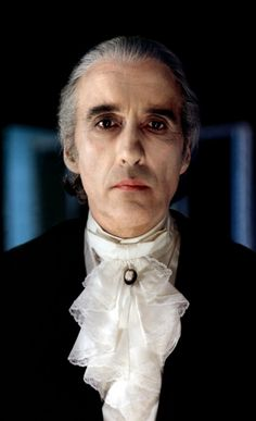 Christopher Lee in his gothic glory! Real vampires don't sparkle....they are menacing and sexy. Yes please,  bite me.
