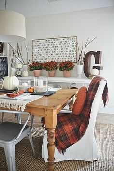 Fall Dining Room Reveal -