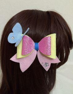 Fluttershy Felt Hair Bow Kawaii Cosplay Lolita by KawaNekoFashions