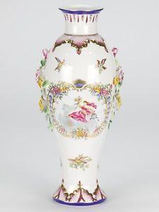 Antique-European-Porcelain-White-blue-Vase-schumann-bavaria-Adderley-Rose-14