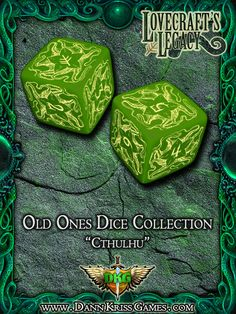 """""""Cthulhu"""" Old Ones Dice Design"""