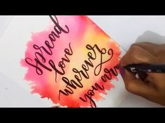 How To : DIY Water Color Background using TOMBOW Dual Brush Pens | Easy Watercolor Backgrounds - YouTube