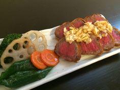 牛カツ beef cutlet
