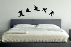 Snowboard Vinyl Decal Wall Art Kids room 54 by JandiCoGraphix, $20.00