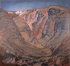 PIERNEEF : Rupert Museum Mountain Art, Mountain Landscape, African Paintings, South African Artists, Stone Mosaic, Art Boards, Mosaics, Printmaking, Landscape Paintings