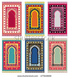 Find Muslim Prayer Rug Islamic Textile Mosque stock images in HD and millions of other royalty-free stock photos, illustrations and vectors in the Shutterstock collection. Prayer Mat Islam, Muslim Prayer Rug, Islamic Prayer, Islamic Art, Ramadan Crafts, Ramadan Decorations, Chicken Painting, Turkish Art, Prayer Room