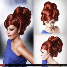 Sculpted #updo by Julian Macias for Farouk Systems at EBS Mexico