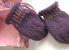 Ravelry: Life is a Box of Chocolates Baby Mitts pattern by Arlene Lund