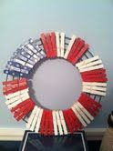 My Clothespin Patriotic Wreath.