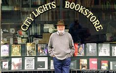 Lawrence Ferlinghetti  San Francisco's first poet laureate, and founder of City Lights Bookstore