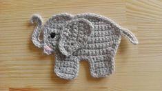 Ravelry: Elephant appliqué / Elefant Aufnäher Applikation pattern by Julia Marquardt