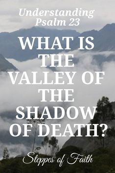 Understanding Psalm What is the Valley of the Shadow of Death? by Steppes of Faith Bible Teachings, Bible Scriptures, Bible Psalms, Bible Notes, How To Pray Effectively, Learn Hebrew Online, Valley Of Death, Bible Topics, Inspirational Verses