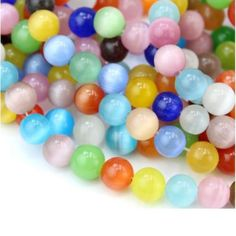 Promotional Events, Fiber Optic, How To Make Beads, Color Mixing, Cat Eye, Glass Beads, Reflection, Shapes