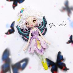 花仙子~艾麗iris #crocheting #あみぐるみ #손뜨개인형 #코바늘인형 #花仙子 #fairy #花仙子