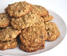 Dairy free oatmeal cookies #recipe #dessert #chocolate_chip