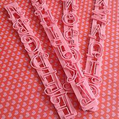 accessori lettere e numeri #guardini #cakedesign