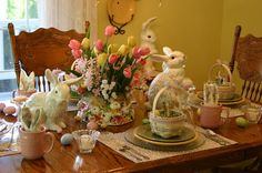 Easter Tablescape with Longaberger