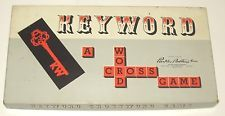 Vintage KEYWORD A Word Cross BOARD GAME Like SCRABBLE by PARKER BROTHERS 1953