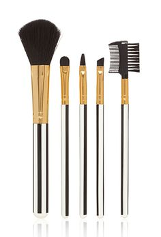 Striped Cosmetic Brush Set | FOREVER21 - 1000100898