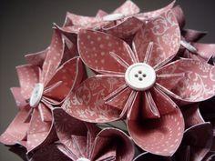 kusudama origami paper flowers