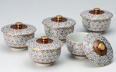 九谷焼 茶器 セット 湯呑 5客 蓋付 茶器揃 九谷焼 蓋付汲出揃梅詰 100%新品,得価 : 高品質,最新作 Sugar Bowl, Bowl Set, Ceramics, Ceramica, Pottery, Ceramic Art, Porcelain, Ceramic Pottery