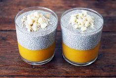 50 most healthy and delicious Chia Seed Pudding you should taste. Make your breakfast healthier with these chia seed pudding recipes. Vegan Desserts, Raw Food Recipes, Healthy Recipes, Superfood, Chia Puding, Pudding Recipes, Healthy Treats, Healthy Lunches, Breakfast Recipes