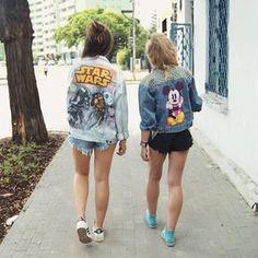 Love these disney denim jackets! #disney #fashion #disneyfashion #disneystyle
