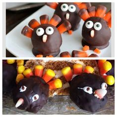 Thanksgiving turkey truffles are more difficult than making a real turkey. #pinterestfail