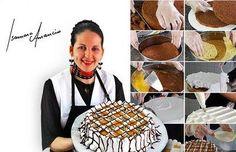24 DICAS DE CONFEITARIA DA ISAMARA AMÂNCIO para bolos perfeitos. Aqui tem dicas de como assar, untar, cortar, rechear e congelar os seus bolos. Confira! Other Recipes, Sweet Recipes, Cake Recipes, Pastel Cakes, Biscuits, Fondant Tutorial, Food Decoration, Cake Boss, Diy Cake