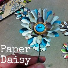 Paper Flower Tutorial at savedbylovecreations.com