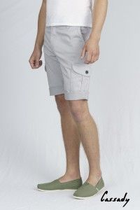 Men's Oyster Grey Sateen Cassady Short WAS £65 NOW £40 Available Now at Monkeegenes.com