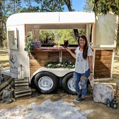 Tipsy is always in the move. We really loved being in Yosemite 🥂 So much magic ✨ Coffee Carts, Coffee Truck, Flower Truck, Flower Bar, Coffee Trailer, Food Trailer, Mobile Bar, Horse Trailers, Bartender