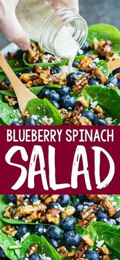 Blueberry Spinach Salad Collage