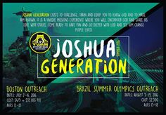 Calling young leaders who love Jesus and want to experience Him in a deeper way. Join us this summer as we head to Boston MA and Rio de Janeiro Brazil. We are going to experience Gods love his presence and share in His heart for the lost. If you or someone you know may be interested visit us at http://ift.tt/1o0n15y  #ywam #jg2016 #itsabouttogodown #nextgeneration #ywampittsburgh #summerolympics #joshuageneration by ywampgh http://bit.ly/dtskyiv #ywamkyiv #ywam #mission #missiontrip…