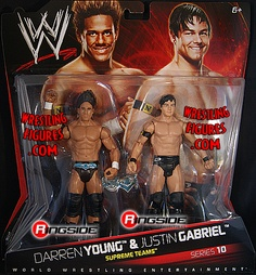 RINGSIDE COLLECTIBLES WWE Toys, Wrestling Action Figures, Jakks Pacific, Classic Superstars Action F: JUSTIN GABRIEL & DARREN YOUNGWWE 2-PACKS 10WWE Toy Wrestling Action Figures