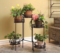 Amazon.fr: saksı çiçekleri, açık ve kapalı Vintage Stil için 5 metrelik metal raflar Mutfak