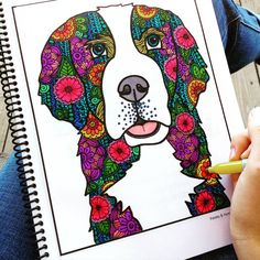 Adult Coloring Book Animals Printable by PaisleyandHazel on Etsy