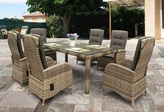 ALL WEATHER RATTAN AND ALUMINIUM CHAMBERRY DINING SET