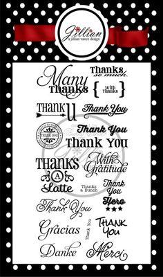 Many Thanks 4 x 8 Stamp Set