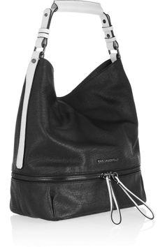 Karl Lagerfeld|Textured-leather shoulder bag|NET-A-PORTER.COM