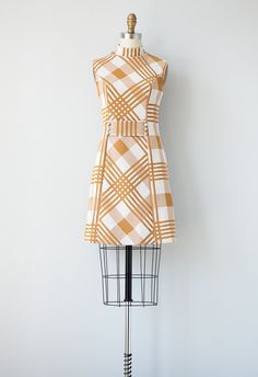 vintage 1960s dress / 1960s mod scooter dress