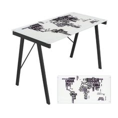 World Map Office Desk # OFD-TM-PGWORLD