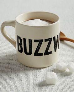 beige buzz worthy coffee mug