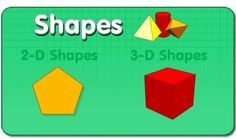 great activities and printables for teaching 2D and 3D shapes